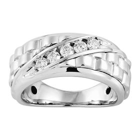 Men's 1/2 ct Diamond Checker Ring