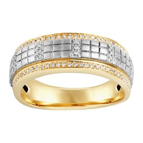 Men's 1/3 ct Diamond Two-Tone Ring