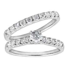 1 ct Diamond Bridal Ring Set
