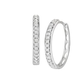 1/2 ct Lab Grown Diamond Hoop Earrings