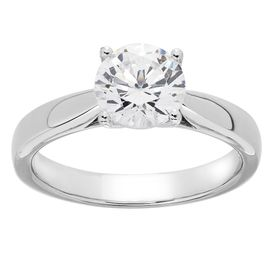 1 1/2 ct Lab Grown Diamond Solitaire Ring