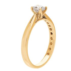 1/2 ct Lab Grown Diamond Solitaire Ring, Yellow