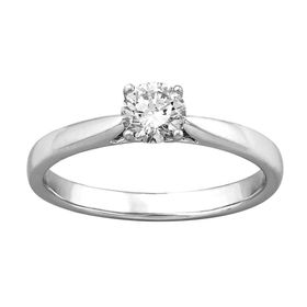 1/2 ct Lab Grown Diamond Solitaire Ring,  White