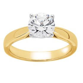 1 ct Lab Grown Diamond Solitaire Ring