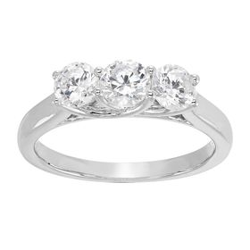 1 ct Lab Grown Diamond Trio Ring
