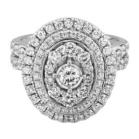 2 ct Diamond Oval Halo Engagement Ring