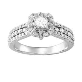 1 ct Diamond Triple Band Engagement Ring