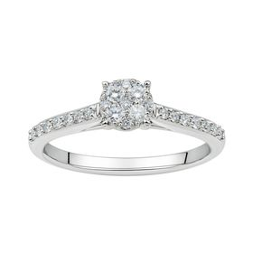 1/3 ct Lab Grown Diamond Cluster Ring