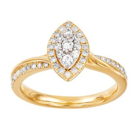 1/2 ct Diamond Marquise Engagement Ring