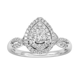 1/2 ct Diamond Pear Engagement Ring