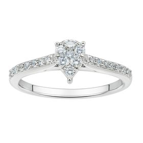 1/3 ct Lab Grown Diamond Pear Cluster Ring