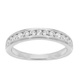 1/2 ct Lab Grown Diamond Band Ring, White