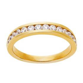 1/2 ct Lab Grown Diamond Band Ring, Yellow