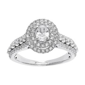 1 ct Diamond Double Halo Engagement Ring