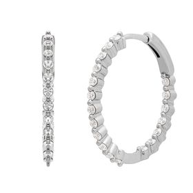 3/4 ct Lab Grown Diamond Front-Back Hoop Earrings