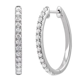 1 ct Lab Grown Diamond Hoop Earrings