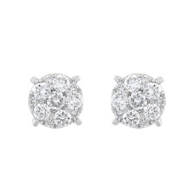 3/4 ct Composite Lab Grown Diamond Stud Earrings