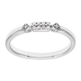 Dainty Band Ring with Diamonds