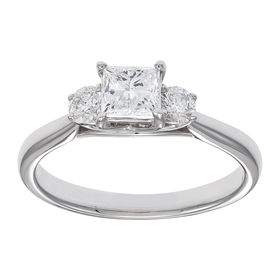 1 ct Princess-Cut Diamond Engagement Ring