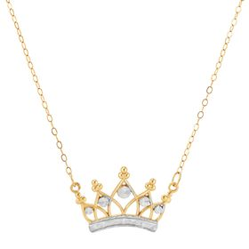Two-Tone Crown Necklace