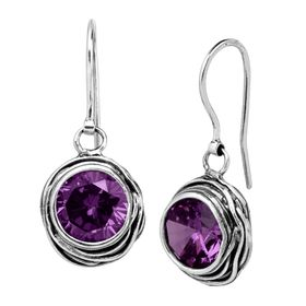 Hooked on Blue Earrings, Purple