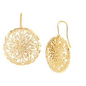 Floral Filigree Drop Earrings