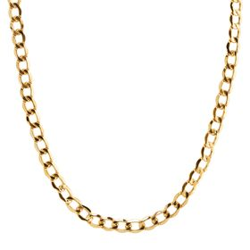 Men's Beveled Curb Chain Necklace, 24""