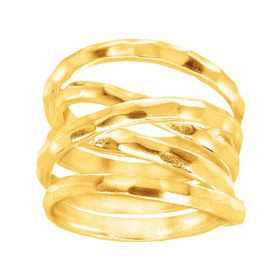Wrapped Up Ring, Yellow