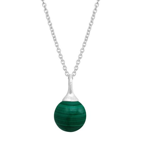 20/'/' sterling silver chain 925 Sterling silver and Malachite necklace charm pendant with 16/'/' 18/'/'