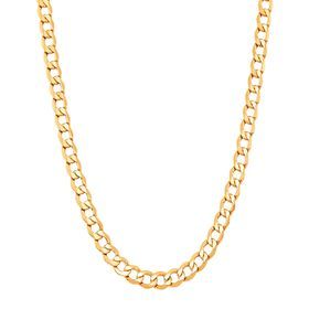 Solid Curb Chain Necklace