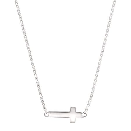 Simplex Cross Necklace