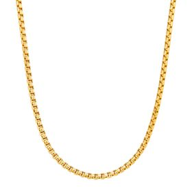Round Box Link Chain Necklace