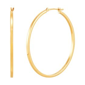 40 mm Square Tube Hoop Earrings