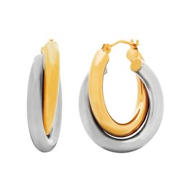 Double Tube Hoop Earrings
