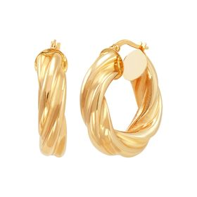 15 mm Twisted Hoop Earrings