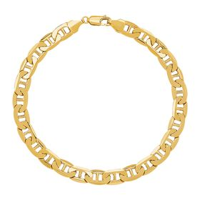 7.22 mm Beveled Mariner Link Bracelet