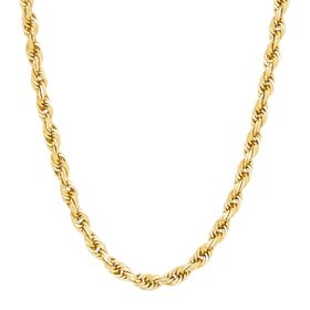 4.4 mm Dual Glitter Chain Necklace, 24""
