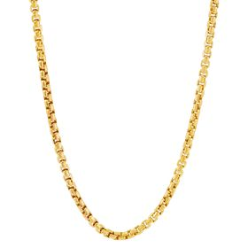 2.4 mm Round Box Chain Necklace