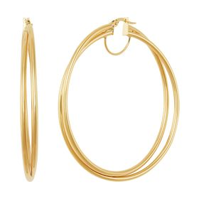 50 mm Double Crossover Hoop Earrings