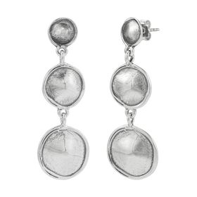 Sand Dollar Trio Drop Earrings