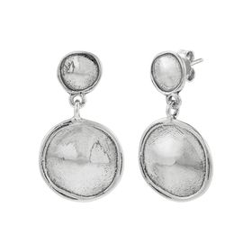 Sand Dollar Duo Drop Earrings