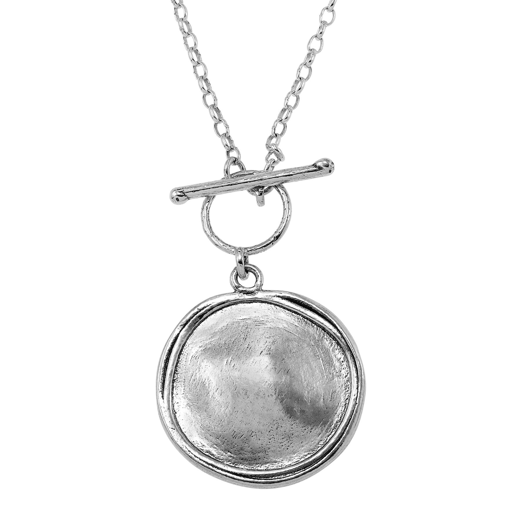 Sterling Silver Polished Sand Dollar Charm New Pendant