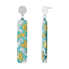 Turquoise Clouds Drop Earrings
