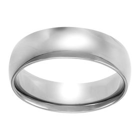 6 mm Wedding Band Ring, White