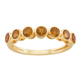 Citrine Seven Stone Band Ring