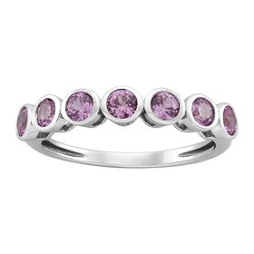 Pink Sapphire Seven Stone Band Ring