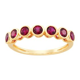 Ruby Seven Stone Band Ring