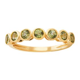 Peridot Seven Stone Band Ring