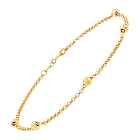 Beaded Shimmer Chain Anklet