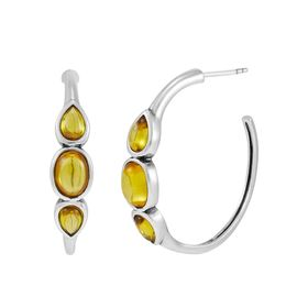 Golden Soiree Hoop Earrings